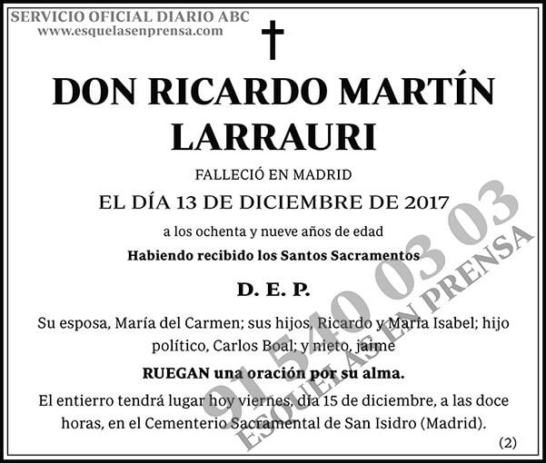 Ricardo Martín Larrauri